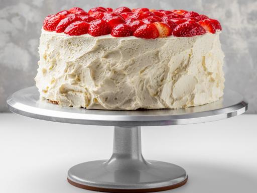 Торт Йогуртовый с клубникой